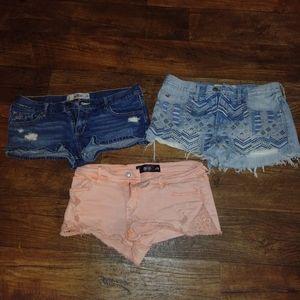 Hollister shorts lot size 9/29